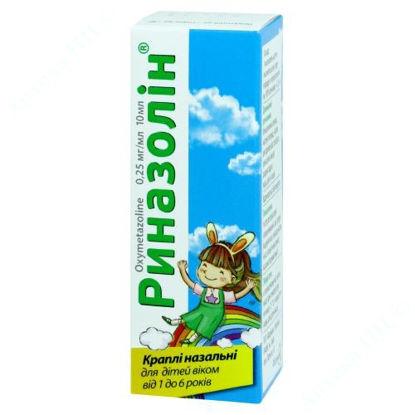 Изображение Риназолин капли 0,25 мг/мл 10 мл Фармак