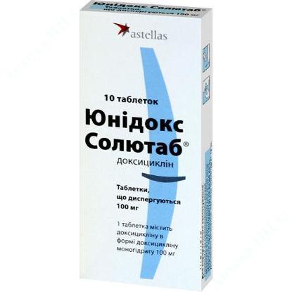 Зображення Юнідокс солютаб табл. дисперг. 100 мг блістер №10