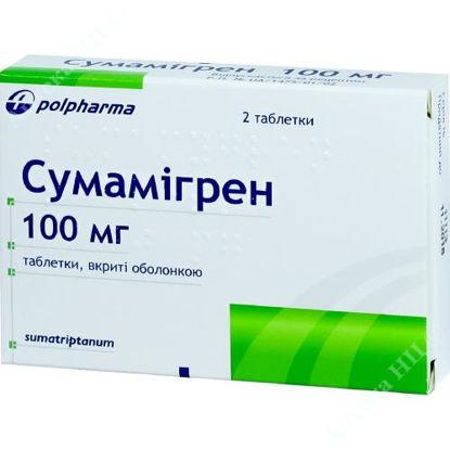 Изображение Сумамигрен табл. п/о 100 мг №2