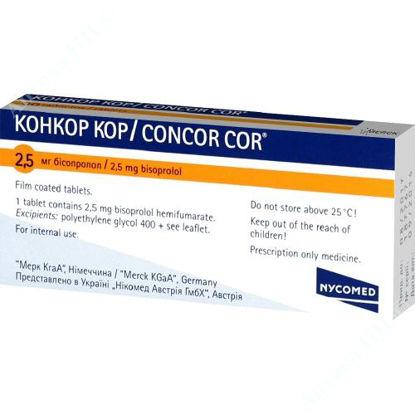 Изображение Конкор КОР таблетки 2,5 мг №30