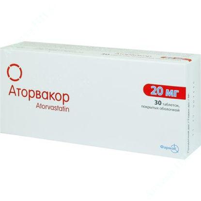 Изображение Аторвакор таблетки 20 мг №30