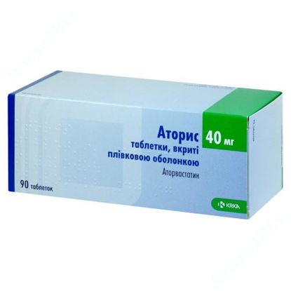 Изображение Аторис таблетки п/плен. оболочкой 40 мг №90