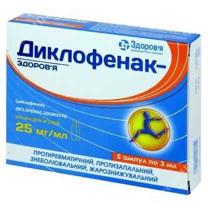 Изображение Диклофенак-Здоровье раствор  25 % 3 мл №5 Здоровье