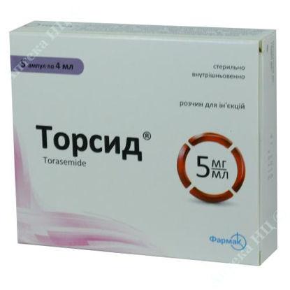 Зображення Торсид розчин для ін'єкцій 5 мг/мл 4 мл №5