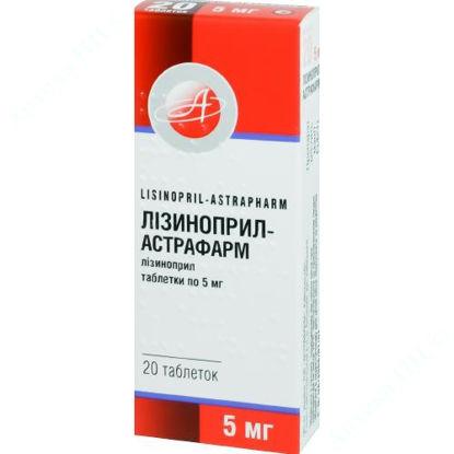 Зображення Лізиноприл-Астрафарм табл. 5 мг блістер №20