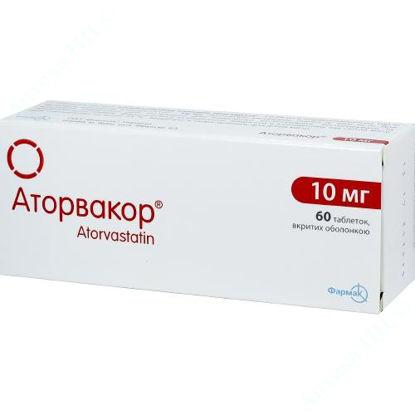 Изображение Аторвакор таблетки 10 мг №60