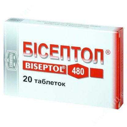 Изображение Бисептол табл. 400 мг /80 мг блистер №20