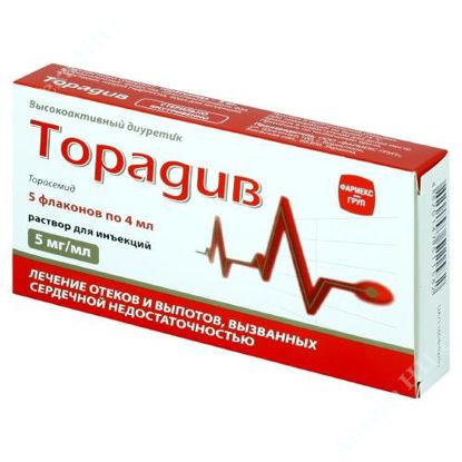 Зображення Торадив р-н д/ін. 5 мг/мл фл. 4 мл, в пачці №5