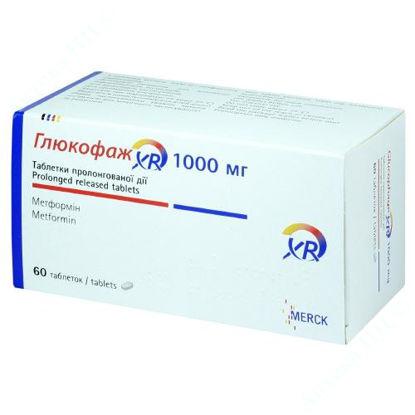 Зображення Глюкофаж XR таблетки 1000 мг №60