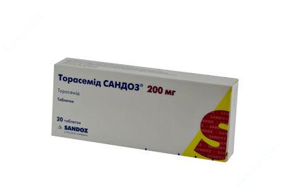 Зображення Торасемід Сандоз таблетки 200 мг №20
