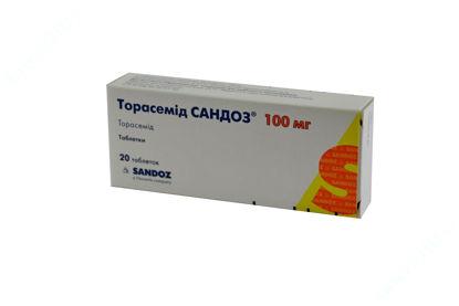 Зображення Торасемід Сандоз таблетки 100 мг №20