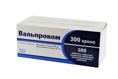 Зображення Вальпроком 300 Хроно таблетки №100 Асіно Україна