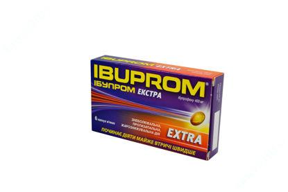 Изображение Ибупром экстра капс. мягкие 400 мг блистер №6