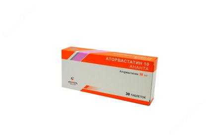 Изображение Аторвастатин 10 Ананта табл. п/плен. оболочкой 10 мг блистер №30