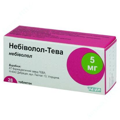Зображення Небіволол-Тева табл. 5 мг блістер в коробці №28