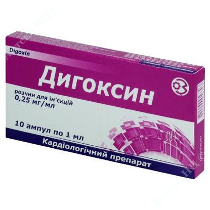 Зображення Дигоксин р-н д/ін. 025 мг/мл амп. 1 мл в пачці №10