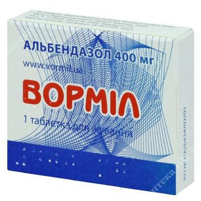 Зображення Ворміл табл. жув. 400 мг блістер №1