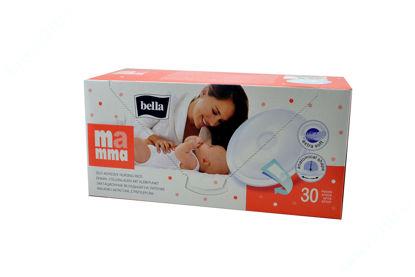 Зображення Вкладиші лактаційні для годуючих матерів Мамма Bella (Белла) з ліпкою смужкою №30