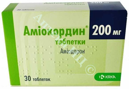 Зображення Аміокордин табл. 200 мг №30