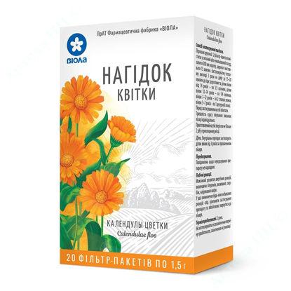Зображення Календули квітки 1,5 г фільтр-пакет №20
