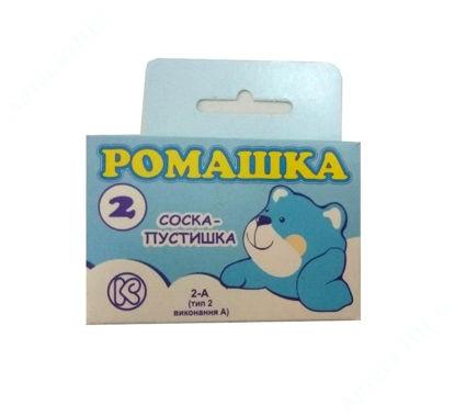 """Изображение Соска-пустышка латексная тип 2-А """"Ромашка"""" в инд. упаковке"""