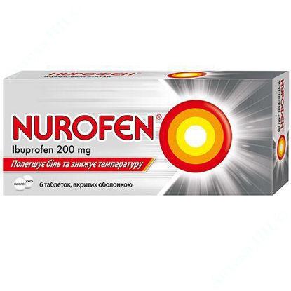 Изображение Нурофен табл. п/о 200 мг блистер №6 Реккет Бенкизер