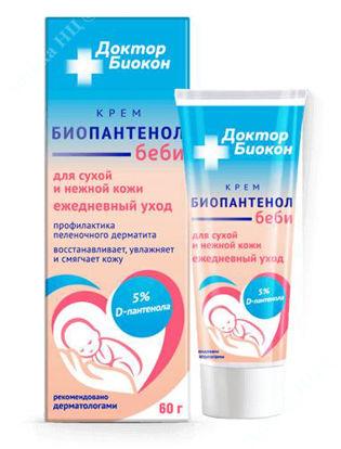 Зображення Біопантенол Бебі крем для сухої і ніжної шкіри  Доктор Біокон 60 г Біокон