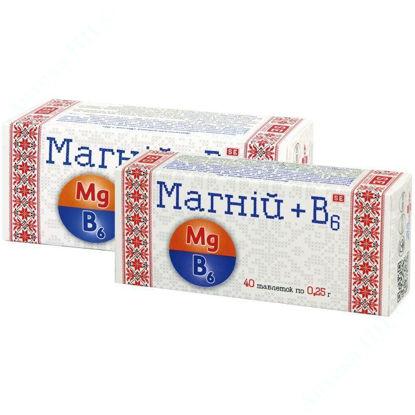 Зображення Магній  B6 таблетки 0,25 г №40 Фармаком