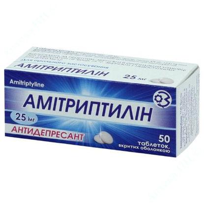 Зображення Амітриптилін табл. в/о 25 мг блістер №50