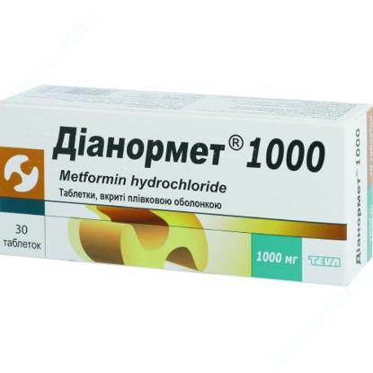 Зображення Діанормет 1000 табл. в/плів. оболонкою 1000 мг блістер №30