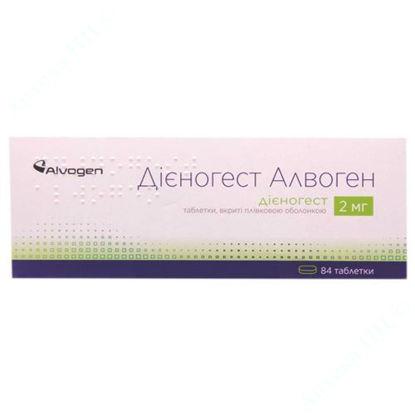 Зображення Дієногест Алвоген таблетки, вкриті плівковою оболонкою 2 мг уп. № 84