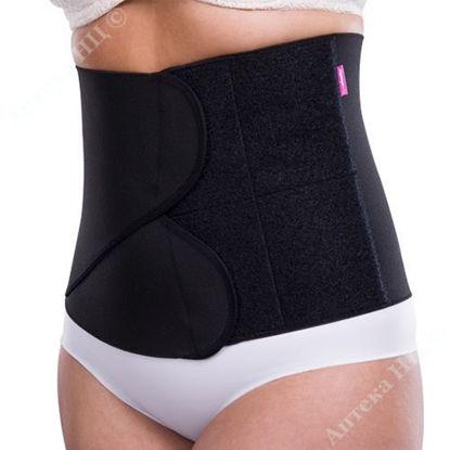 Зображення Компресійний пояс KPress Velcro fastener 24 см, чорний, розмір L/XL № 1