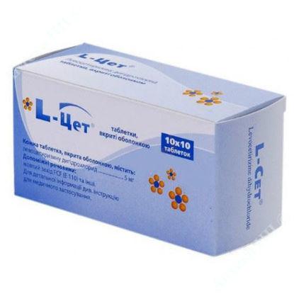 Зображення L-цет таблетки 5 мг №100