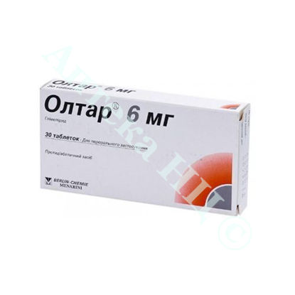 Зображення Олтар 6 мг таблетки №30