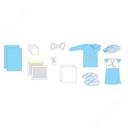 Изображение Комплект одежды и покрытий операционных акушерский №20 Славна, стерильный