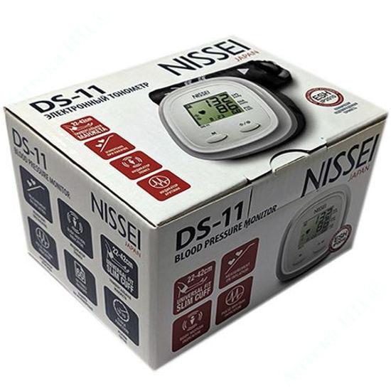 Зображення DS-11 NISSEI Вимірювач АТ цифровий автоматичний, універсальна манжета 22-42см №1