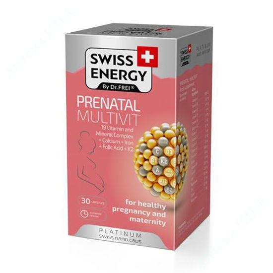 Зображення Вітаміни Swiss Energy Prenatal Multivit капсули №30