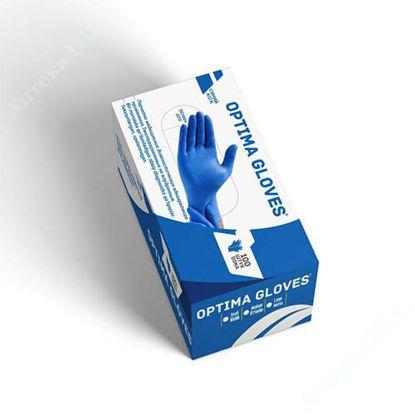 Изображение Перчатки нитриловые нестерильные текстурированные неопудренные, размер M №100