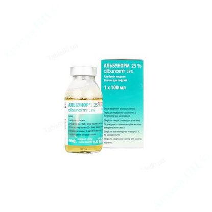 Изображение Альбунорм 25% раствор для инфузий 100 мл №1