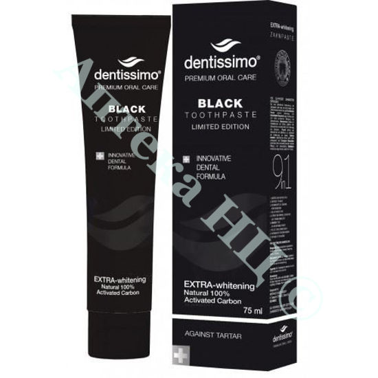 Зображення Зубна паста Dentissimo Black Extra Whitening 75 мл