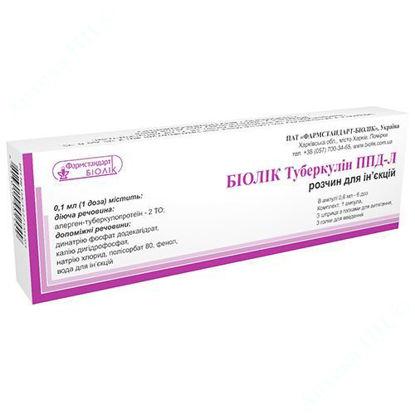 Зображення Біолік Туберкулін ППД-Л розчин для ін'єкцій з активністю 2 ТО/доза 0,6 мл (6 доз) №1