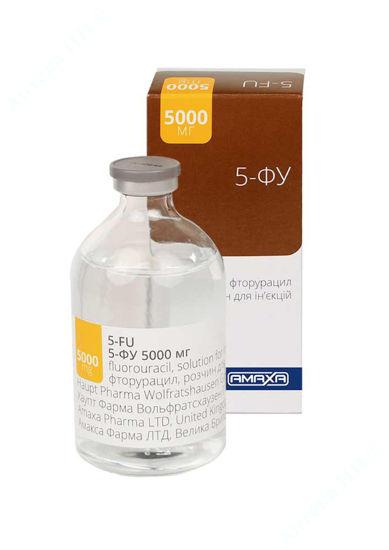 Зображення 5-ФУ розчин для ін'єкцій 50 мг/мл 100 мл №1