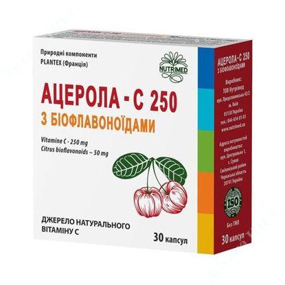 Изображение Ацерола - С 250 с биофлавоноидами капсулы 570 мг №30