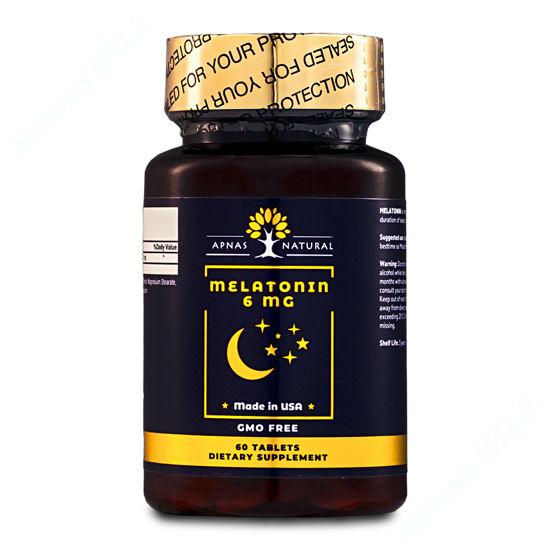 Зображення Мелатонін 6 мг Apnas Natural таблетки №60
