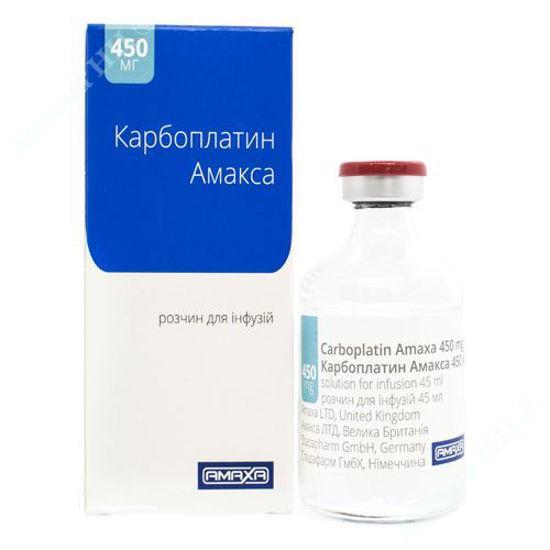 Зображення Карбоплатин Амакса розчин для інфузій 10 мг/мл 45 мл №1