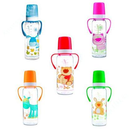 """Зображення Пляшка з малюнком і ручкою BPA FREE """"Кольорова ферма"""" 250 мл 11/845"""