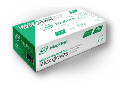 Изображение Перчатки МР смотровые латексные с пудрой нестерильные, размер M №1