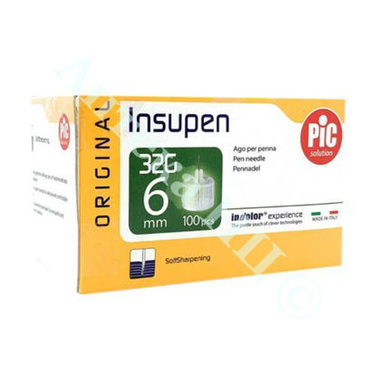 Изображение Стерильные иголки INSUPEN ORIGINAL для инсулиновых ручек 32G x 6 мм (0,23 x 6 мм) №100