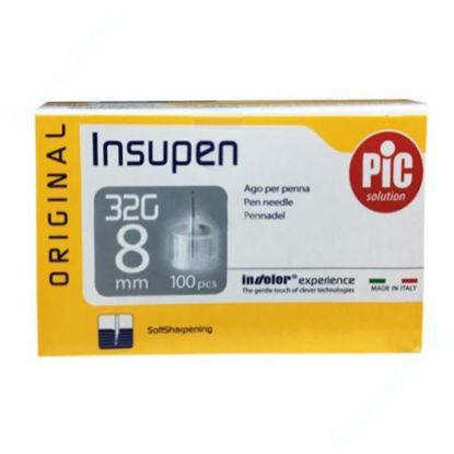 Изображение Стерильные иголки INSUPEN ORIGINAL для инсулиновых ручек 32G x 8 мм (0,23 x 8 мм) №100
