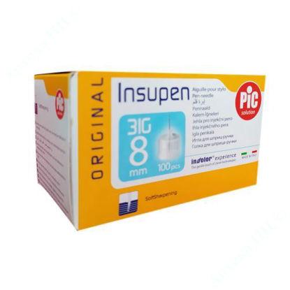 Изображение Стерильные иголки INSUPEN ORIGINAL для инсулиновых ручек 31G x 8 мм (0,25 x 8 мм) №100